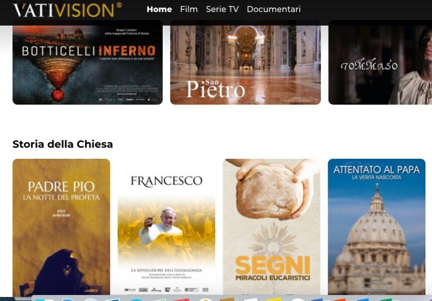"""È nato VatiVision, il """"Netflix"""" del Vaticano"""